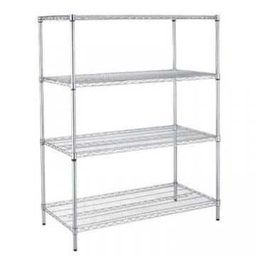 Stainless Steel Wire Store Chinese Floor Storage Supermarket Metal Retail Store Fruit Store Display Rack Stand Shelf