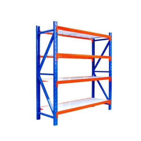 Adjustable 4 Tiers Commercial Heavy Duty Steel Warehouse Cargo Storage Wire Rack Shelf #3 image