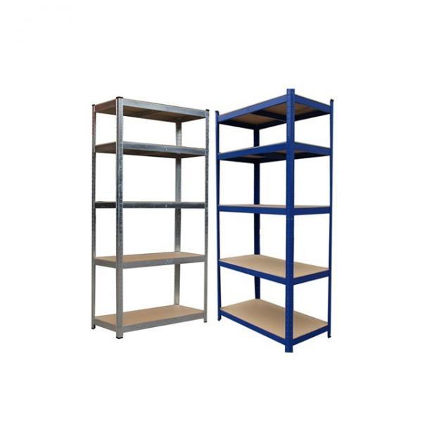 Shelf Unit, Flat Gray Shelves & Legs / 5-Shelf Steel Shelving Unit #3 image