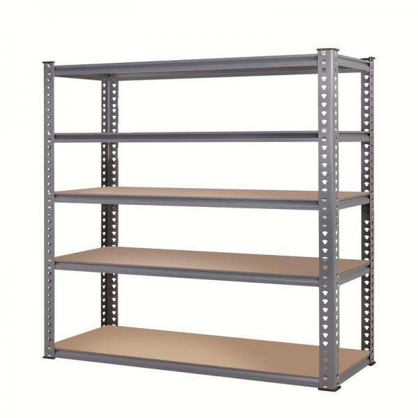 Shelf Unit, Flat Gray Shelves & Legs / 5-Shelf Steel Shelving Unit #2 image