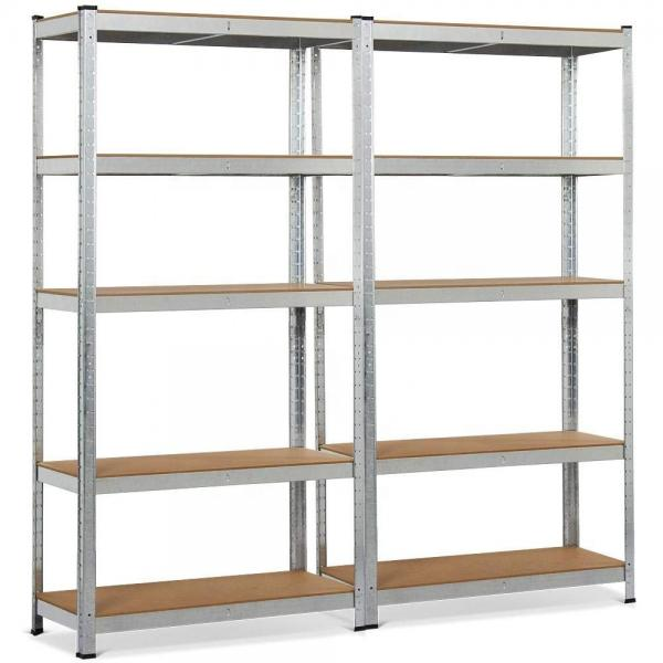 Storage Rack 5 Level Adjustable Shelves Garage Steel Metal Shelf Unit #1 image