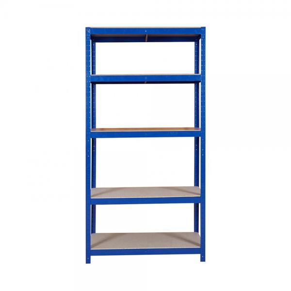 Shelf Unit, Flat Gray Shelves & Legs / 5-Shelf Steel Shelving Unit #1 image