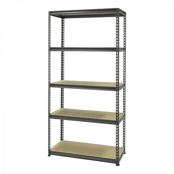 Multifunction 5 Tiers Freestading Storage Rack Adjustable Chrome Steel Wire Shelving Unit #1 image