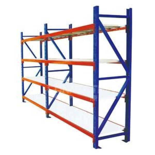 Adjustable 4 Tiers Commercial Heavy Duty Steel Warehouse Cargo Storage Wire Rack Shelf #1 image